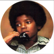 Michael Jackson as a child on the telephone