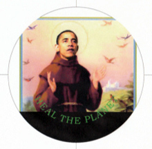 Help Barack Obama heal the planet by buying this button