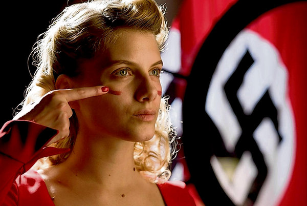 Melanie Laurent as Shosanna Dreyfus, the face of Jewish vengeance  in Inglourious Basterds