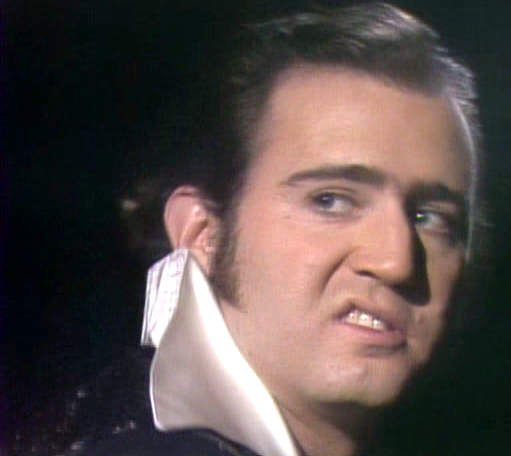 Andy Kaufman as Elvis Presley, January 1977 image (ie Elvis was still alive)