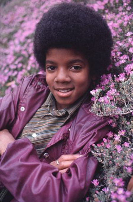young Michael Jackson with the beautiful face God gave him