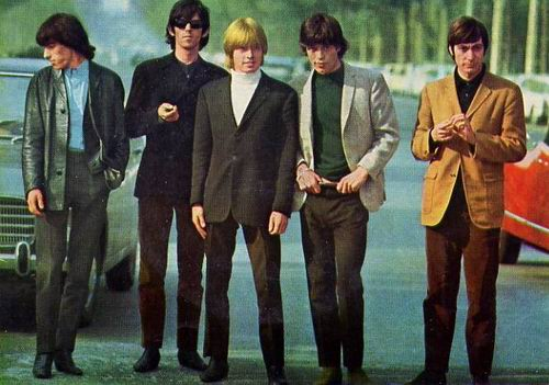 Rolling Stones image, with Mick Jagger, Keith Richards, Brian Jones, Bill Wyman and Charlie Watts